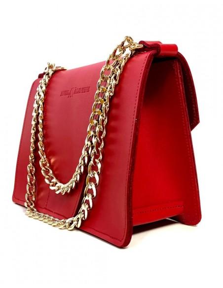 Bolso Gavi en rojo amapola con detalles de abejitas metálicas