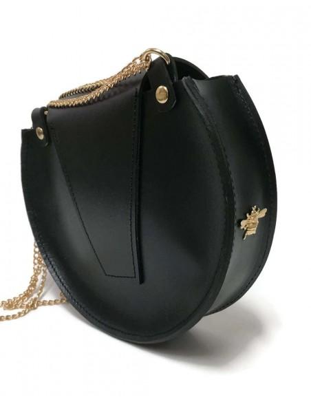 Bolso de cadena de abeja Loel mini negro de Angela Valentine
