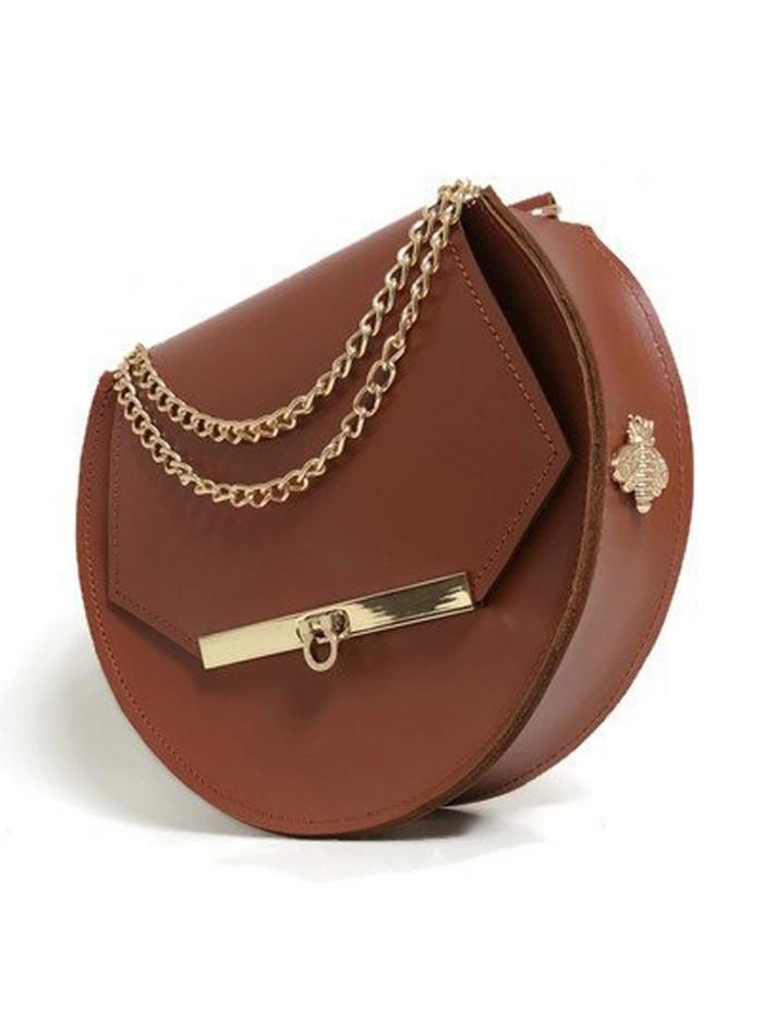 Bolso de cadena de abeja Loel mini camel de Angela Valentine