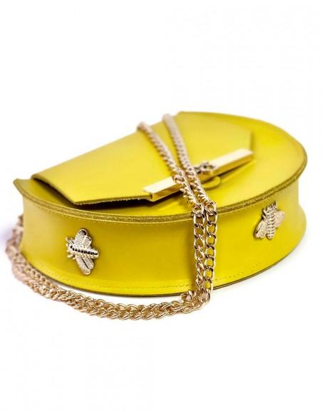 Beehive chain bag Loel  Yellow mini Angela Valentine Handbags - 3