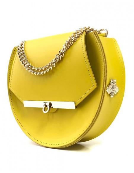 Beehive chain bag Loel  Yellow mini Angela Valentine Handbags - 5