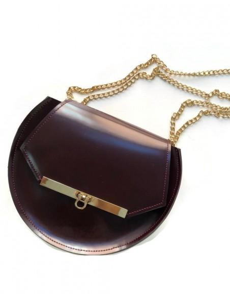 Beehive chain bag Loel mini wine color Angela Valentine Handbags - 1