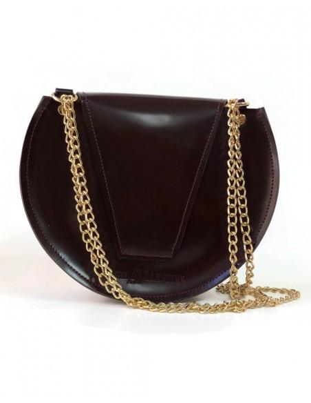Beehive chain bag Loel mini wine color Angela Valentine Handbags - 2