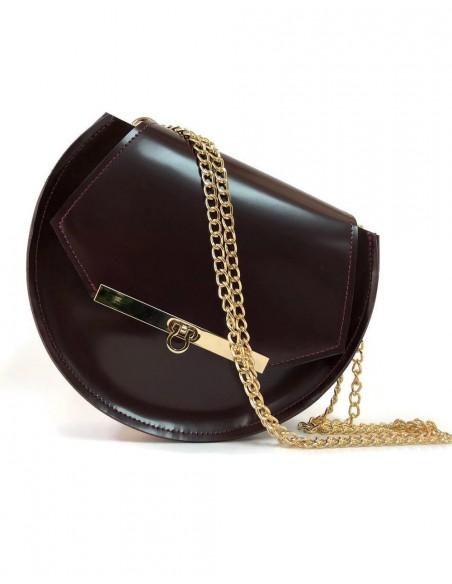 Beehive chain bag Loel mini wine color Angela Valentine Handbags - 4