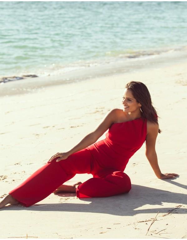 Long jumpsuit with the asymmetric neckline Mauî Official - 2