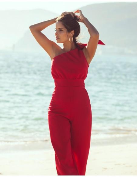 Long jumpsuit with the asymmetric neckline Mauî Official - 4