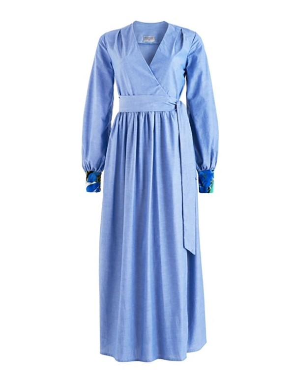 vestido largo para bodas y bautizos de invitadas