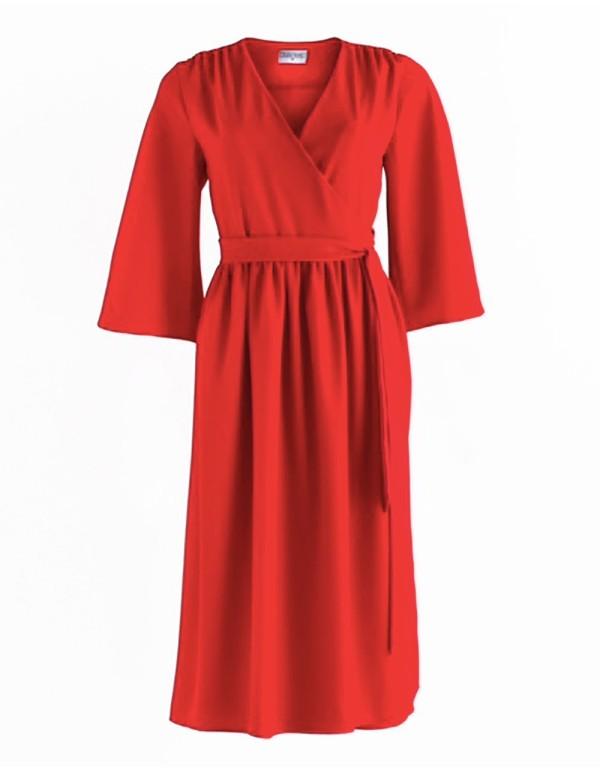 Vestido rojo de fiesta para invitadas