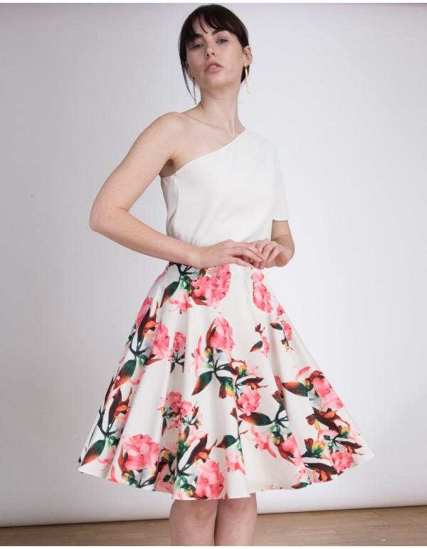 Falda de fiesta floral, por encima de la rodilla y con mucho vuelo de Lauren Lynn London