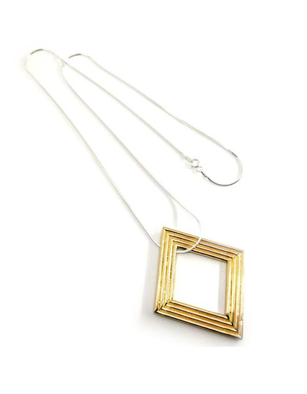 Collar Veren en oro y plata como complemento para looks de invitadas. Joliet Joyas para INVITADISIMA.