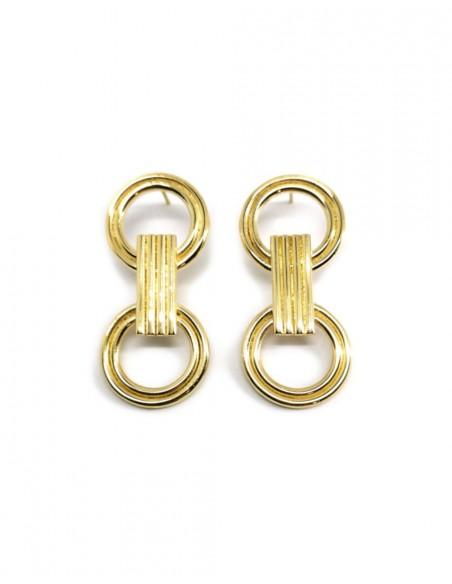Pendientes de oro Sirac de Joliet Joyas para INVITADISIMA. Complementos para tu look de invitada.
