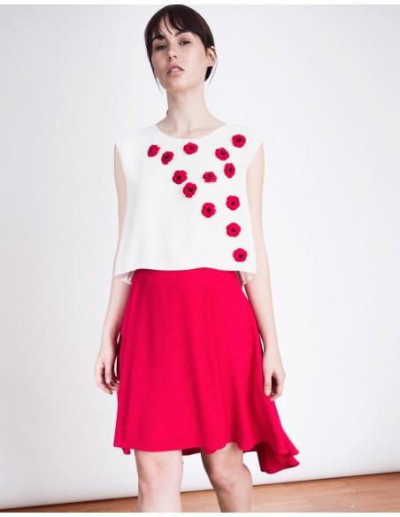 Asymmetric Skirt Kate Fuchsia