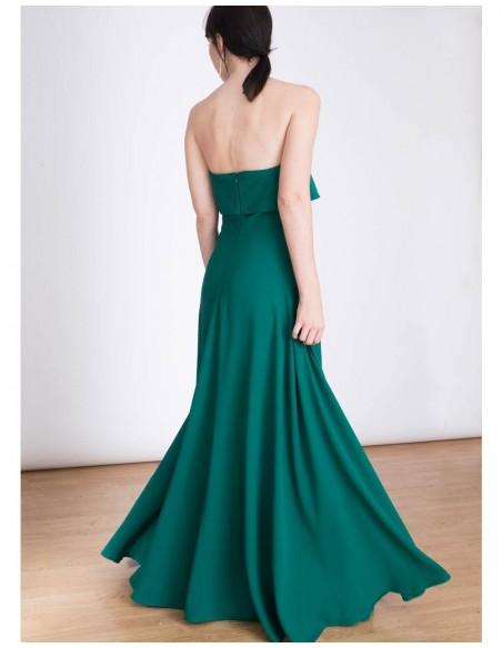 Detalle del vestido de fiesta largo Carmen de Lauren Lynn London para INVITADISIMA