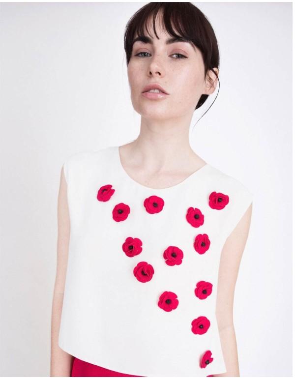Top con flores de pedrería Alice Lauren Lynn London - 1