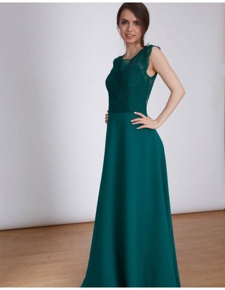 Vestido de fiesta largo de encaje con la espalda abierta Emma