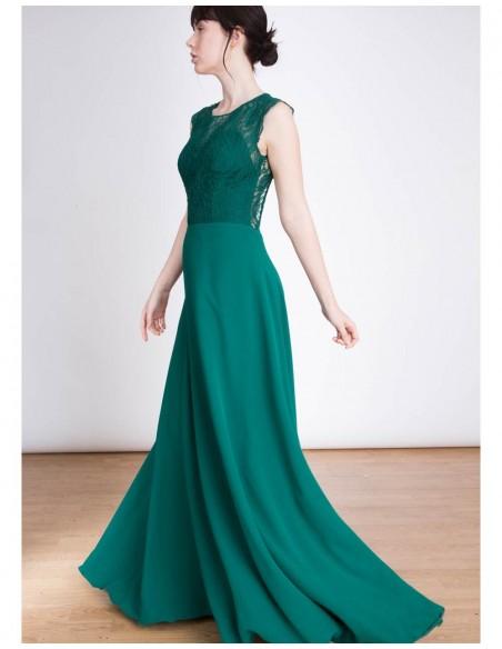 Vestido de fiesta largo de encaje con la espalda abierta Emma Lauren Lynn London - 5