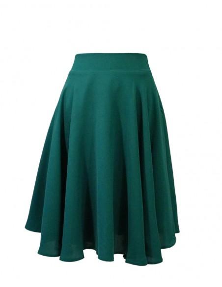 Falda de fiesta verde esmeralda, por encima de la rodilla y con mucho vuelo de Lauren Lynn London