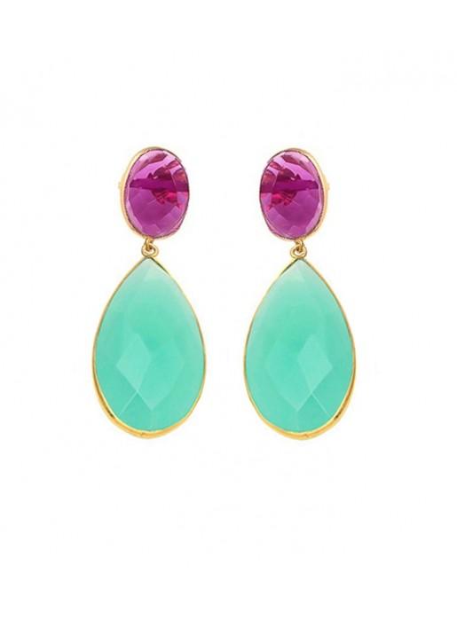 Aquamarina Duo Earrings