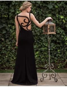 Vestido de fiesta largo con espalda efecto tatuaje nuribel Couture para INVITADISIMA