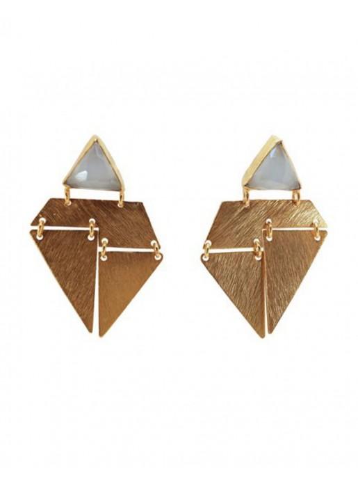Light Blue Origami Earrings