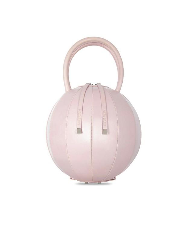 bolso esfera rosa con cremallera
