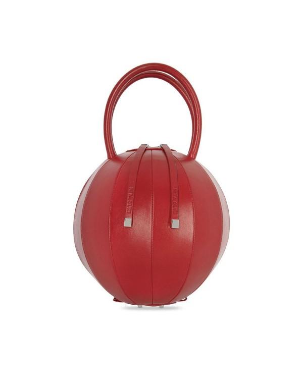 bolso rojo redondo para eventos
