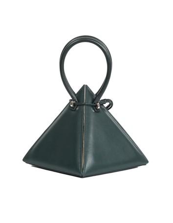 bolso piramide verde para invitadas