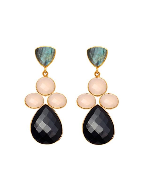 Black Flavia Earrings