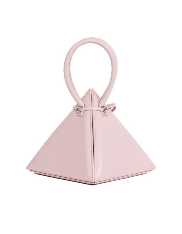 Pink pyramid bag with round handles and handle - LIA PINK NITA SURI  - 1