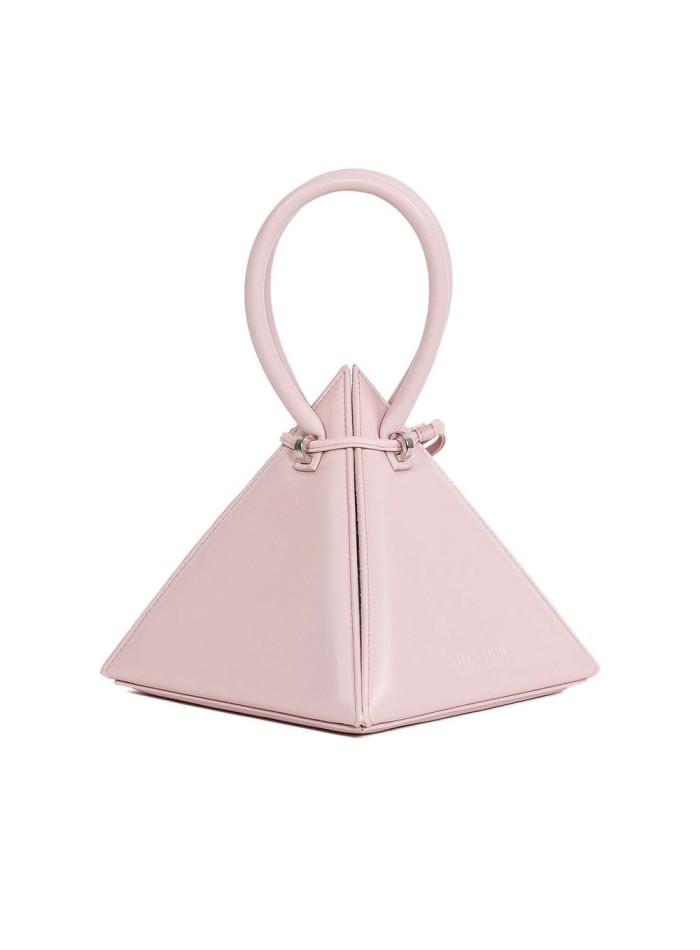bolso rosa piramidal para eventos