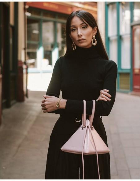 Pink pyramid bag with round handles and handle - LIA PINK NITA SURI  - 3