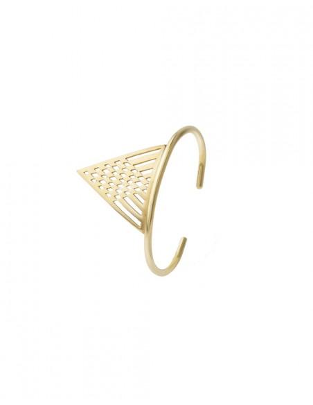 Brazalete de invitada geométrico dorado de Li Jewels para INVITADISIMA