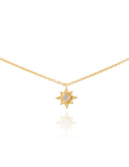 Collar con estrella de ocho puntas - Astrea - INVITADA PERFECTA
