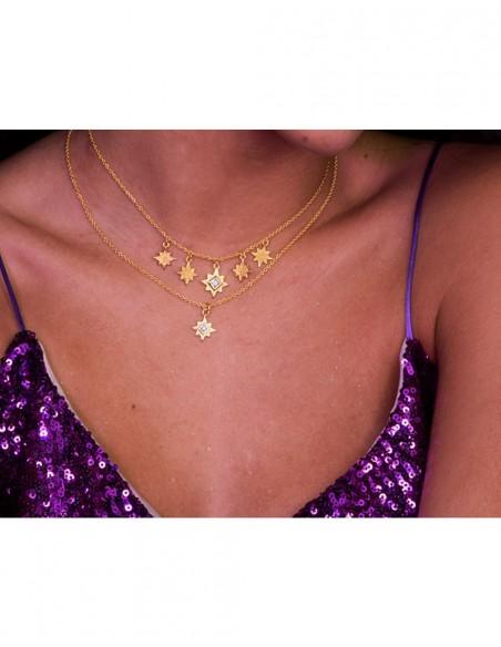 Collar con estrella de ocho puntas - Astrea LAVANI - 3