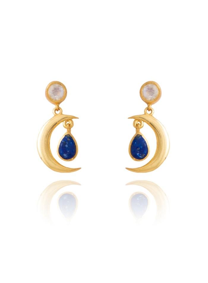 2d3975557466 Pendientes con forma de luna - Sirius de Lavani jewels para INVITADISIMA