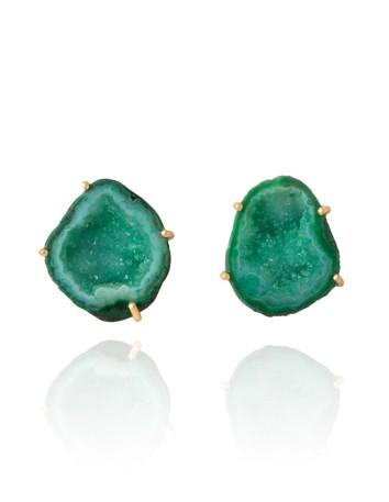 Emerald green earrings - Zeus