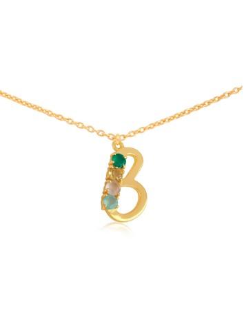 Colgante inicial con la letra B de Lavani joyas para INVITADAS PERFECTAS