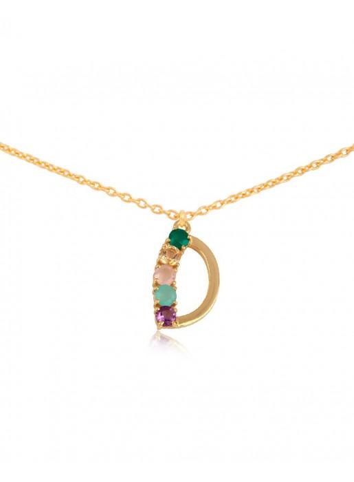 Shiny Initial necklace – D LAVANI - 1