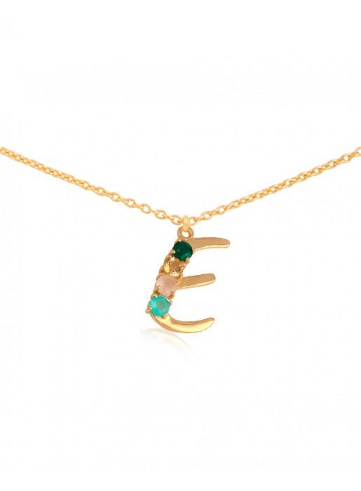 Shiny Initial necklace – E