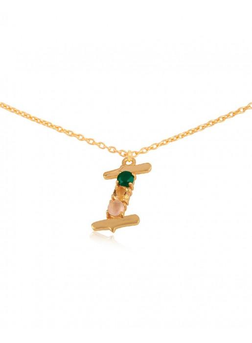 Shiny Initial necklace – I