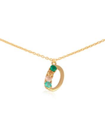Shiny Initial necklace – O LAVANI - 1
