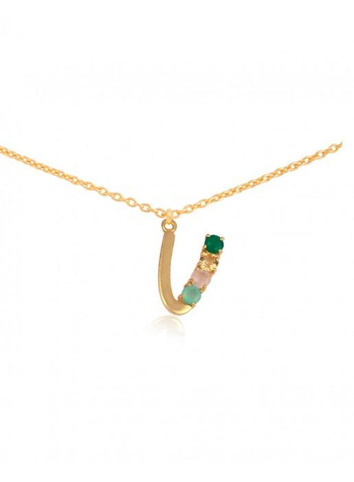 Shiny Initial necklace – U LAVANI - 1