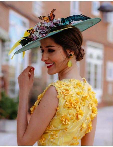 Pamela con plumas, flores y mariposas Lamatte - 2