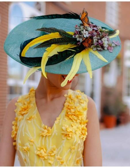 Pamela con plumas, flores y mariposas Lamatte - 3