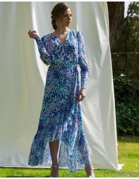 Conjunto de top y falda tonos azules - Graziella de Alenia para INVITADISIMA