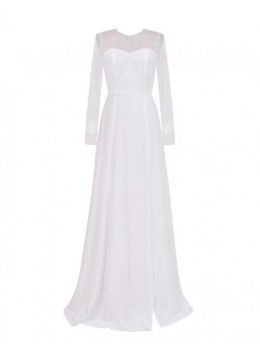 Vestido largo de fiesta Blanco - Vestido de novia blanco - Arimoka en INVITADISIMA