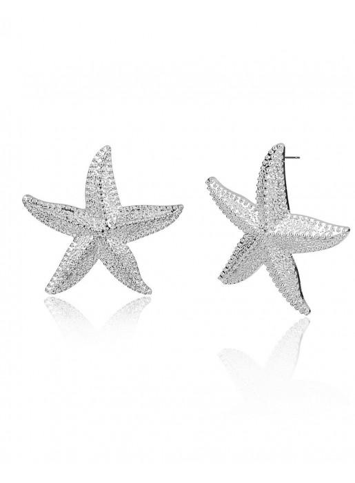 881e4f9b5a1c Pendientes estrella de mar plata - Chenobi Plata