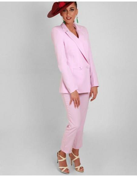 pantalon tobillero rosa