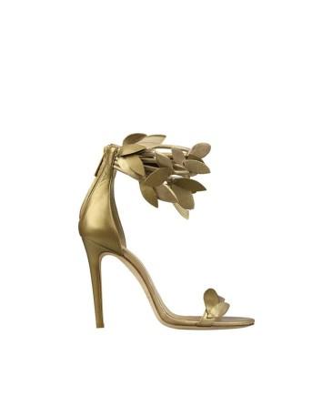 sandalias hojas doradas
