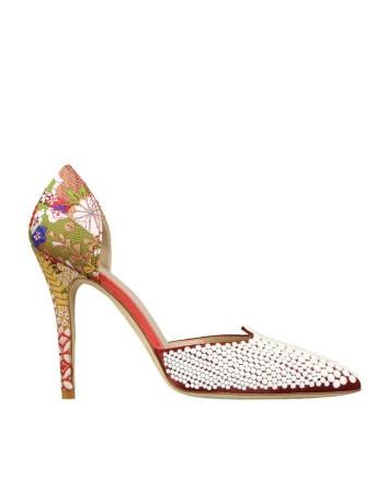 zapatos estampado perlas